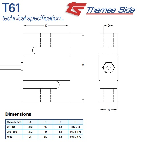 Thames Loadcell Side T61, Thames Loadcell Side T61, Loadcell-t61-thames_1413832109.jpg