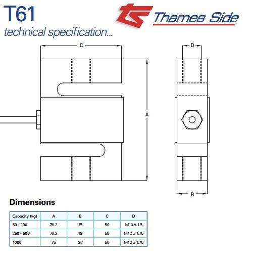 Thames Loadcell Side T61, Thames Loadcell Side T61, Loadcell-t61-thames_1413832109.jpg